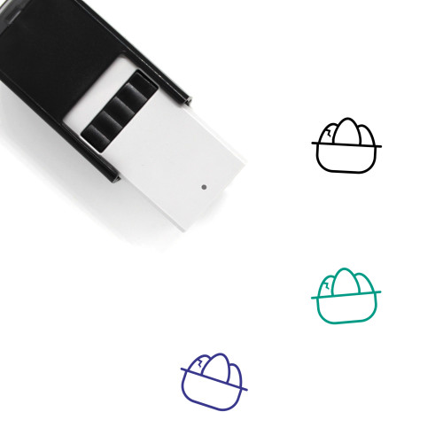 3 Easter Eggs Self-Inking Rubber Stamp No. 1