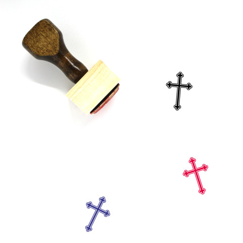 Cross Wooden Rubber Stamp No. 31
