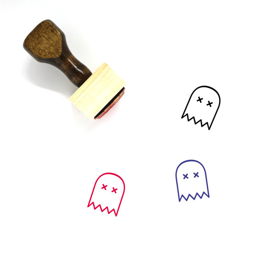 Ghost Wooden Rubber Stamp No. 62