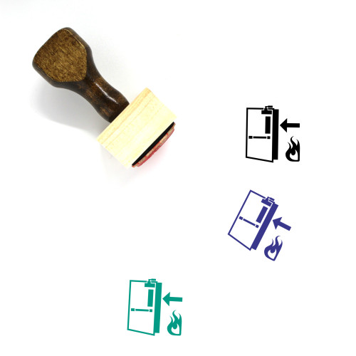 Fire Exit Wooden Rubber Stamp No. 2