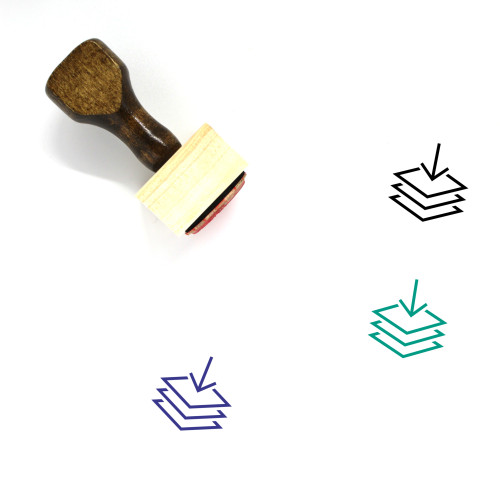 Layer In Wooden Rubber Stamp No. 1