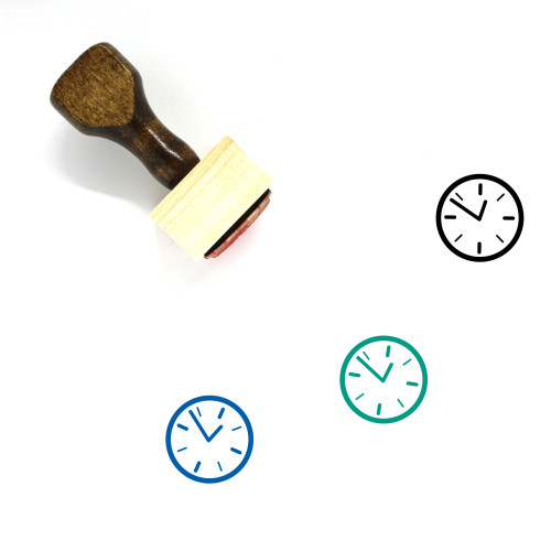 Clock Wooden Rubber Stamp No. 281