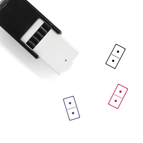 Domino Self-Inking Rubber Stamp No. 4