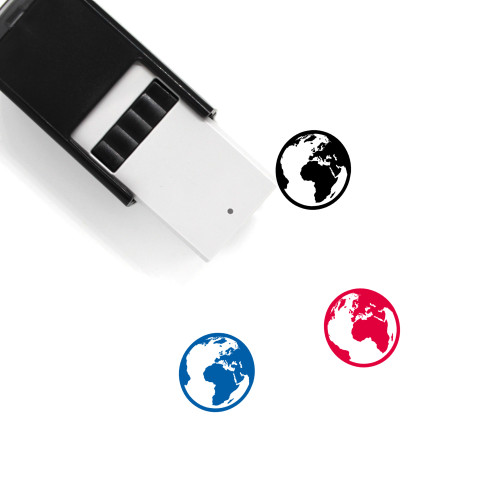 3D Globe Self-Inking Rubber Stamp No. 1