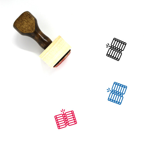 Fire Crackers Wooden Rubber Stamp No. 1