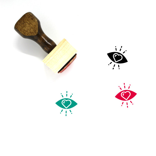 Love In Eye Wooden Rubber Stamp No. 1