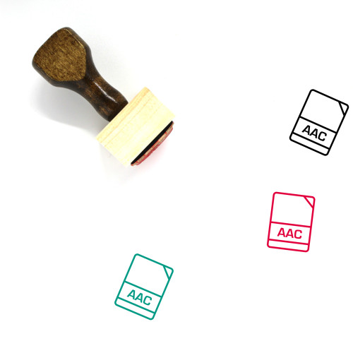 Aac Wooden Rubber Stamp No. 1
