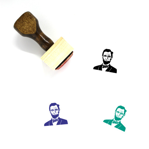Abraham Lincoln Wooden Rubber Stamp No. 4
