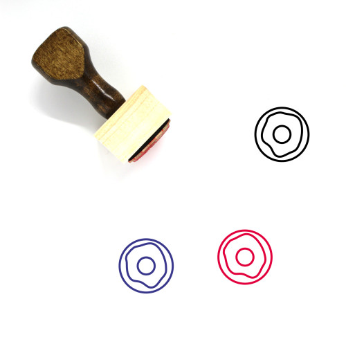 Donut Wooden Rubber Stamp No. 3