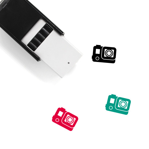 Action Camera Self-Inking Rubber Stamp No. 3