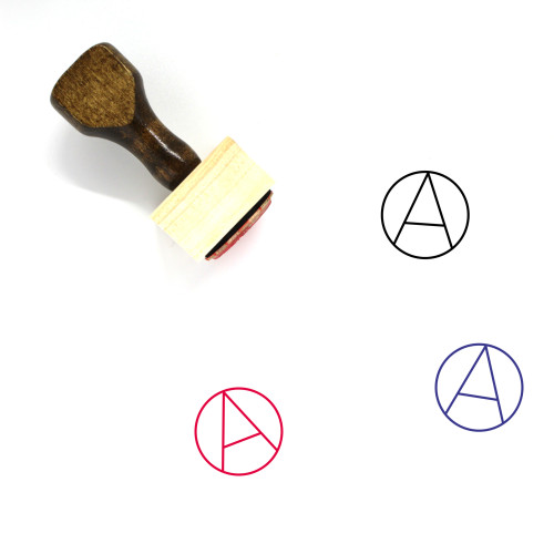 Anarchy Wooden Rubber Stamp No. 1