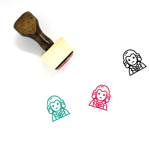 Man Wooden Rubber Stamp No. 134