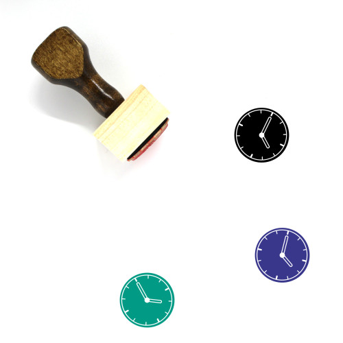 Clock Wooden Rubber Stamp No. 300