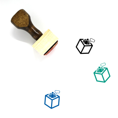 Citizen Empowerment Through Open Data Wooden Rubber Stamp No. 1