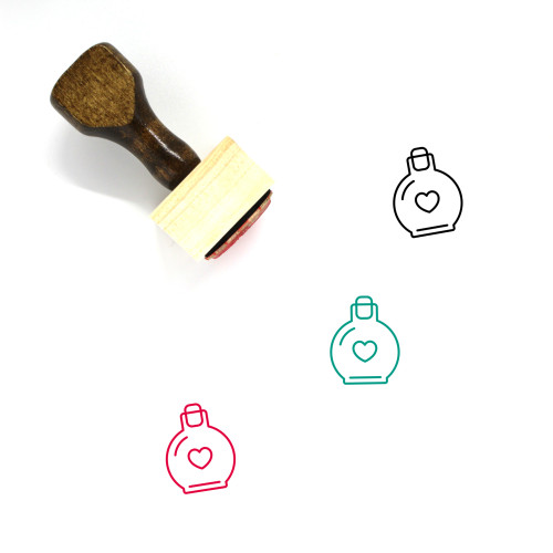 Love Potion Wooden Rubber Stamp No. 2