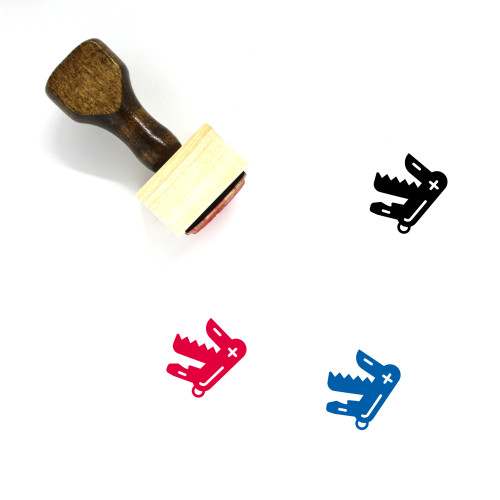 Swiss Army Knife Wooden Rubber Stamp No. 5
