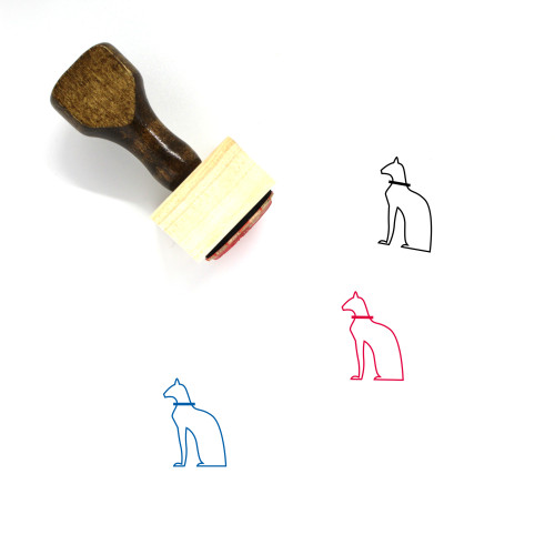 Hieroglyph Wooden Rubber Stamp No. 1
