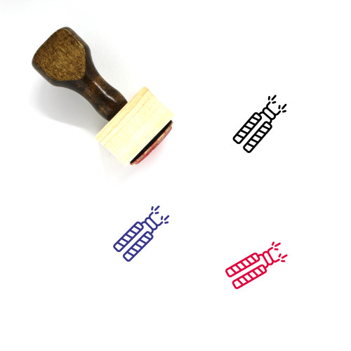 Fire Crackers Wooden Rubber Stamp No. 2