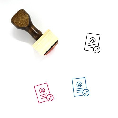 Account Settings Wooden Rubber Stamp No. 1