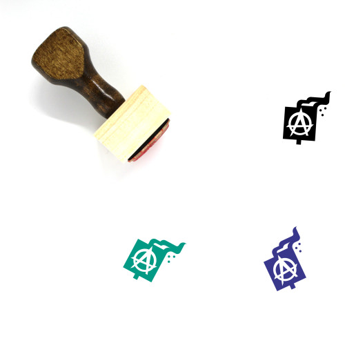 Anarchy Wooden Rubber Stamp No. 2