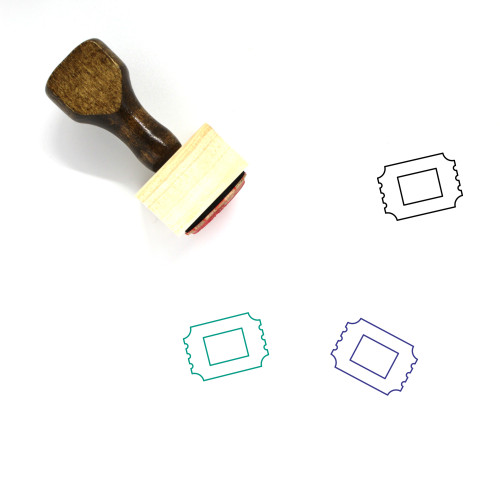 Admission Ticket Wooden Rubber Stamp No. 1