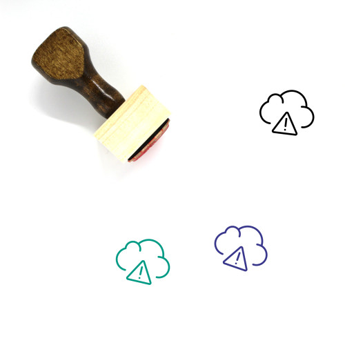 Cloud Warning Wooden Rubber Stamp No. 1