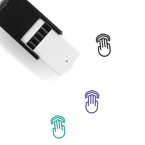 3X Double Tap Self-Inking Rubber Stamp No. 1