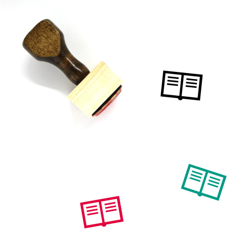 Book Wooden Rubber Stamp No. 332