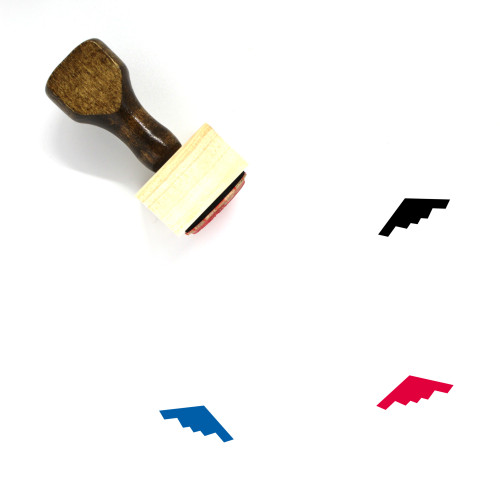 Stealth Bomber Wooden Rubber Stamp No. 1
