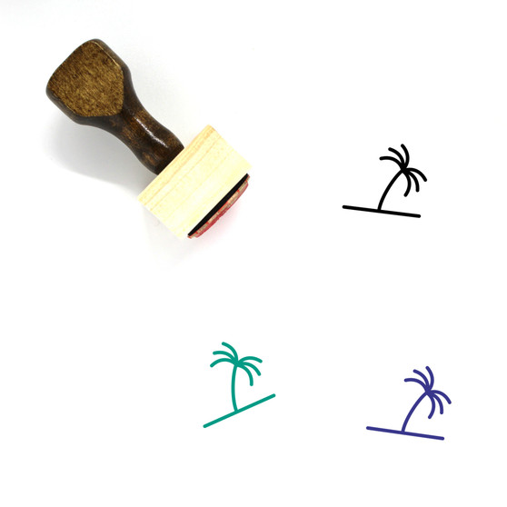 Palm Tree Wooden Rubber Stamp No. 78