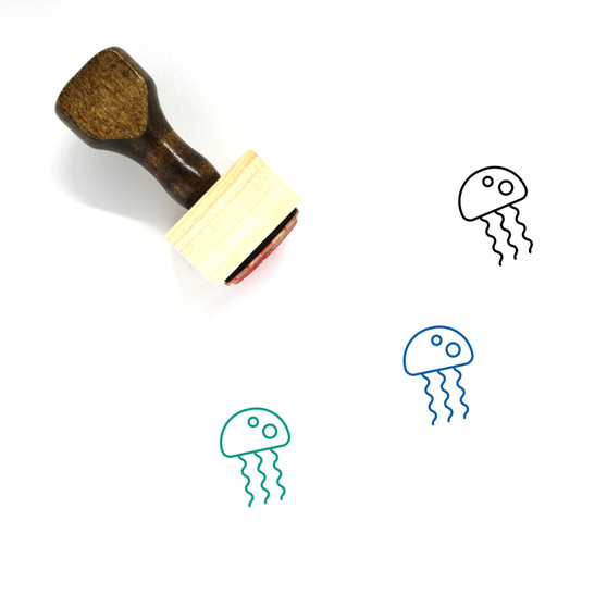 Jellyfish Wooden Rubber Stamp No. 13