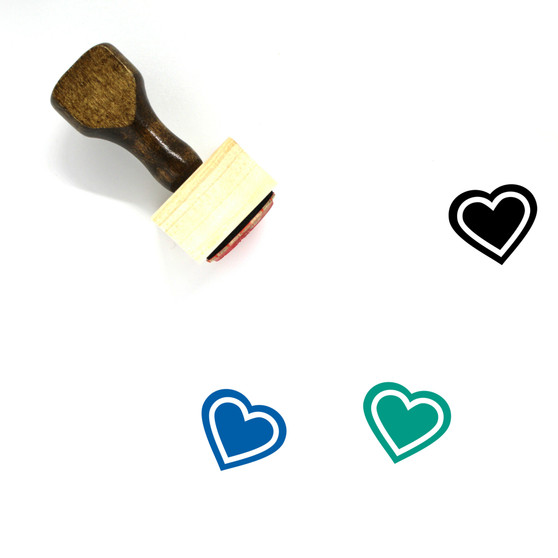 Heart Wooden Rubber Stamp No. 1293