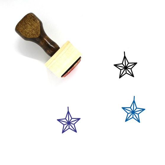 Star Wooden Rubber Stamp No. 659