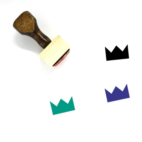 Crown Wooden Rubber Stamp No. 992