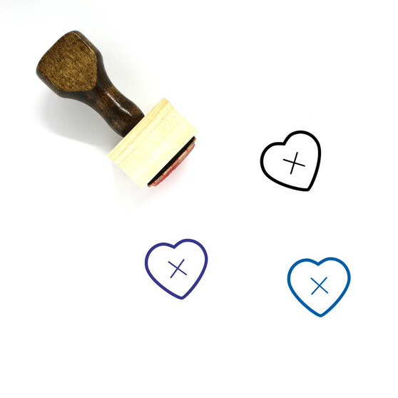 No Heart Wooden Rubber Stamp No. 1