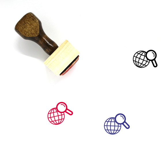 Search Wooden Rubber Stamp No. 8