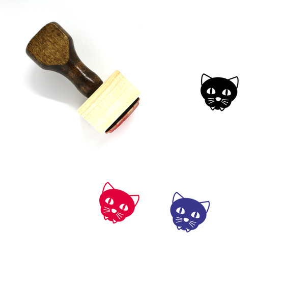 Cat Wooden Rubber Stamp No. 3