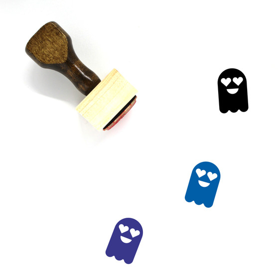 Ghost Wooden Rubber Stamp No. 14