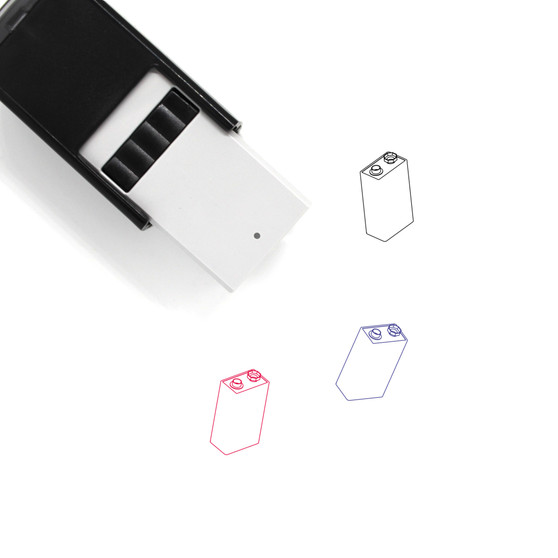 9V Battery Self-Inking Rubber Stamp No. 9