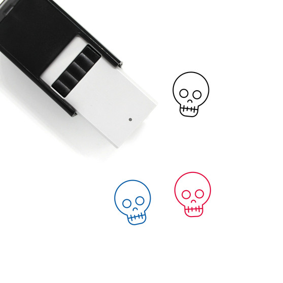 Skull Self-Inking Rubber Stamp No. 23