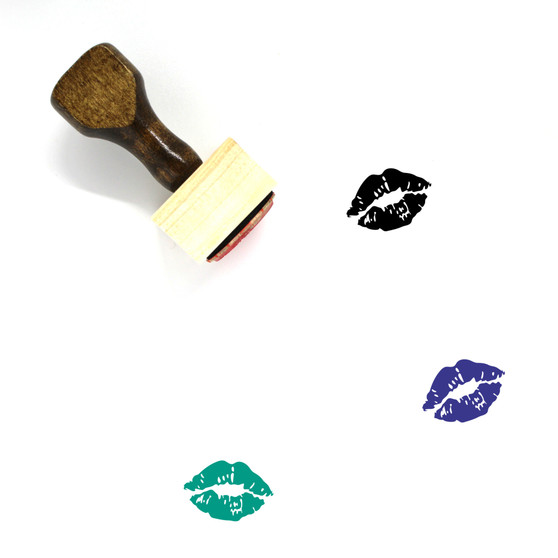 Kiss Wooden Rubber Stamp No. 2