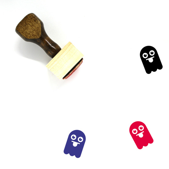 Ghost Wooden Rubber Stamp No. 18