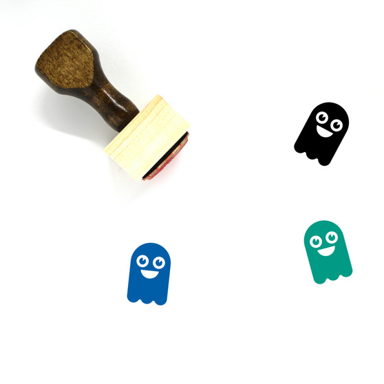 Ghost Wooden Rubber Stamp No. 19