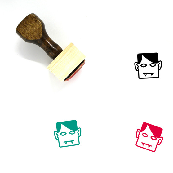 Vampire Wooden Rubber Stamp No. 15