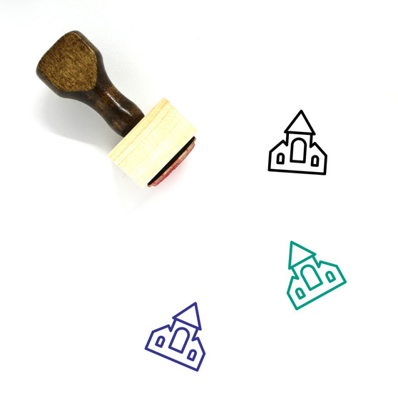 Haunted House Wooden Rubber Stamp No. 1
