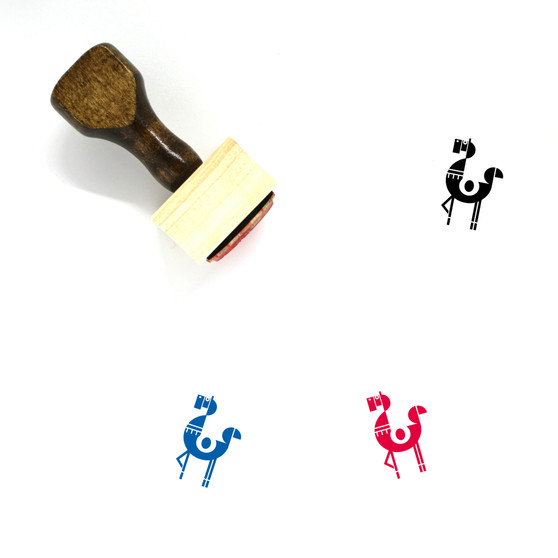 Horse Wooden Rubber Stamp No. 39
