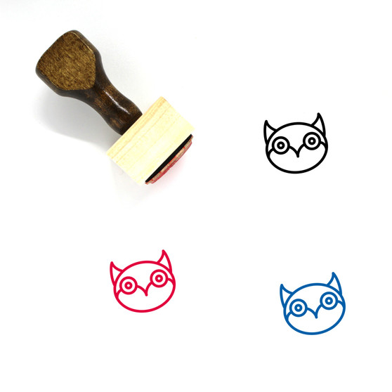 Owl Wooden Rubber Stamp No. 3