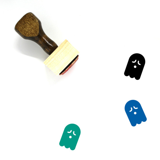 Ghost Wooden Rubber Stamp No. 36