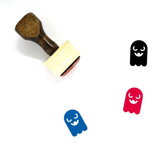Ghost Wooden Rubber Stamp No. 41