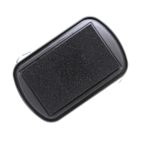A black ink pad for wooden rubber stamps